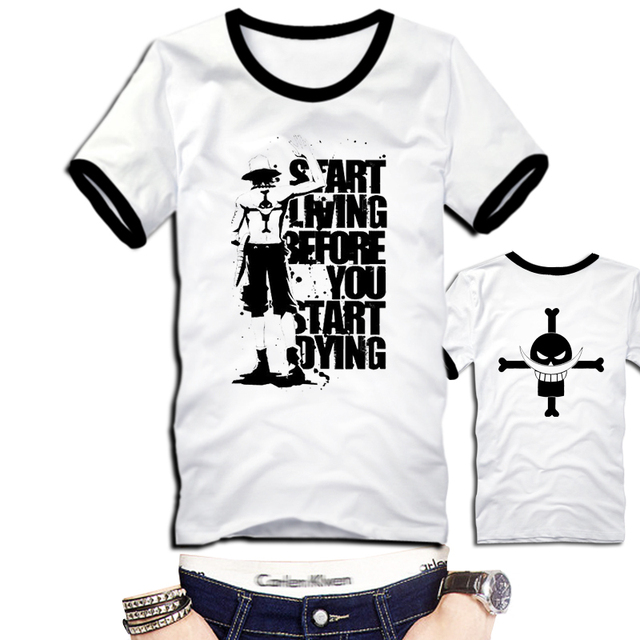 2016 New Hot Sale Japanese Anime Cosplay Costumes One Piece Portgas D Ace T Shirts Tee