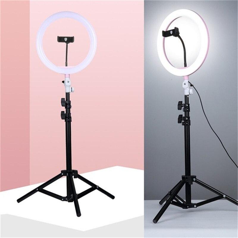 "Tycipy 10"" Ring Light Photo Studio Camera Makeup Ring Light Phone Video Live Light Lamp with Tripod for Smartphone Canon Nikon"