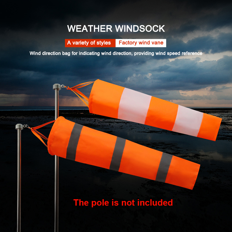 Oxford Fluorescent Reflective Wind Weather Vane Bag Windsock Outdoor Kite Wind Monitoring Wind Direction Indicator