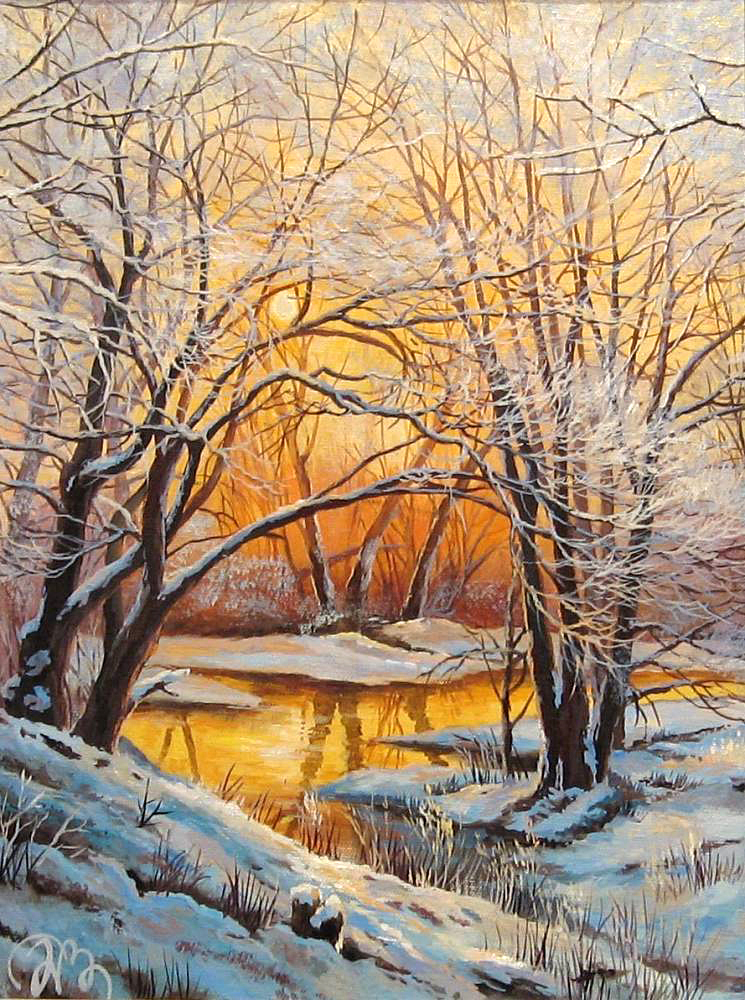 Landscape snow at dusk autumn pink pictures Home Decor Pictures Painting By Numbers Handwork Draw On Canvas Living Room Wall Art