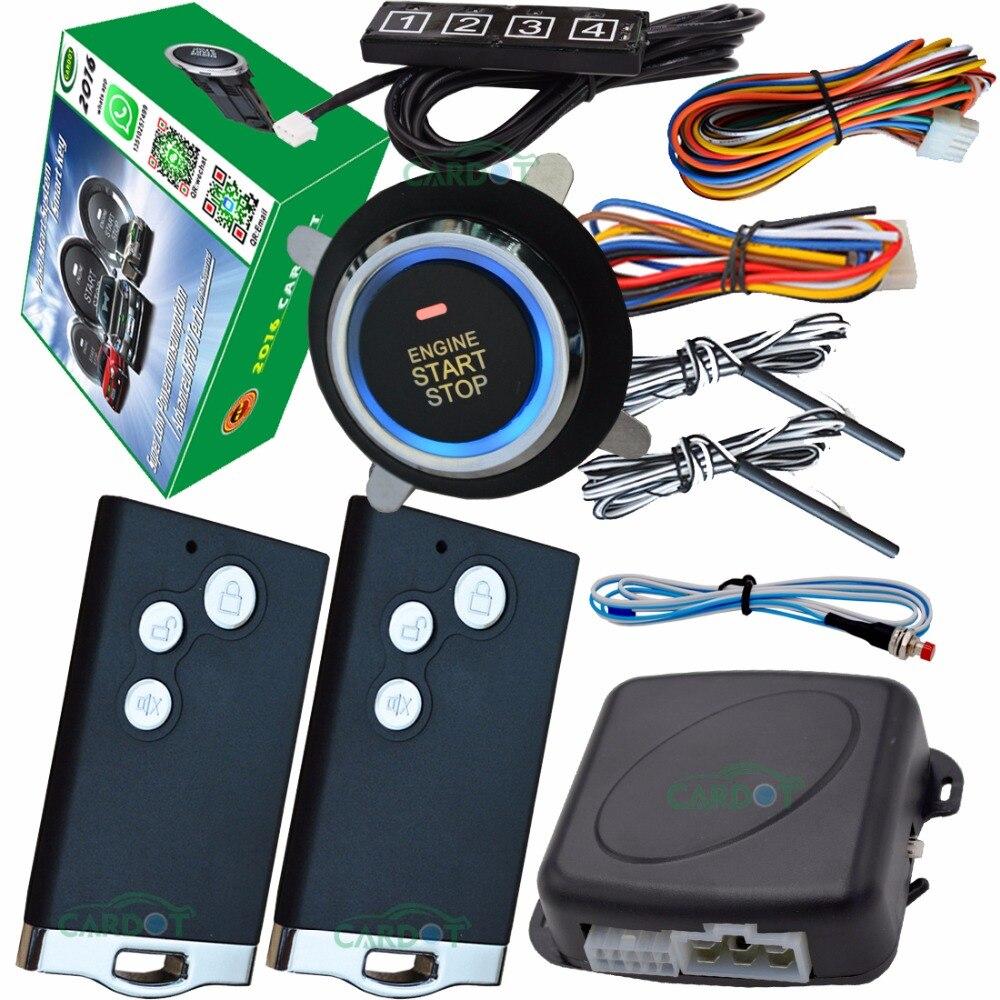 Serrure de porte centrale automatique d'entrée de clé passive d'alarme de voiture intelligente de RFID ou déverrouillez soutenant le moteur de démarrage de voiture diesel ou d'essence