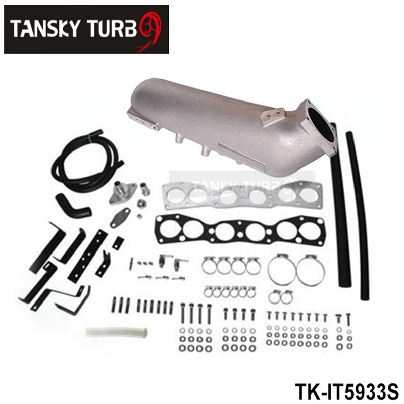 TANSKY - For  TOYOTA 2JZ Cast Aluminum Turbo Intake Manifold Polished JDM high Performance TK-IT5933S wlr store cast aluminium intake manifold for 93 98 supra 2jzgte for toyota 2jz intake manifold high quality new brand