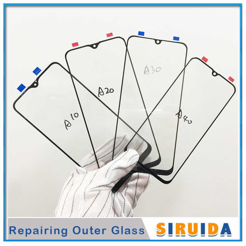 قطع غيار اللوحة الزجاجية الخارجية الأمامية لسامسونج غالاكسي A10 A20 A30 A40 A50 A60 A70 A80 A90 M10 M20 M30 الأصلي LCD