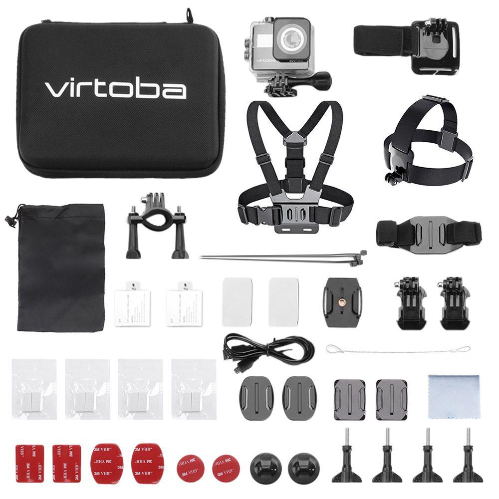 Galleria fotografica Virtoba VK-5 WiFi Action Camera + Accessories Kit NTK96660 For Sony IMX078 2.31 Inch TFT LCD Action Camera 4K 170 Degree FOV