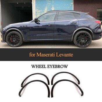 4 adet/takım çamurluk genişletici Maserati Levante için Taban Spor S Spor 4-Door 2017 2018 Karbon Fiber Tekerlek Eeybrow Koruyucu çamurluklar