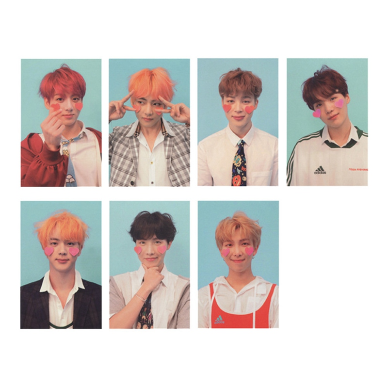 7 Pcs/set New Kpop Bts Photo Card Bangtan Boys Love Yourself Album Paper Cards Self Made Lomo Cards Photocard Double Sided