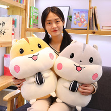 Hot 1pc 20-55cm Cute Hamster with Melon Seeds Plush Toys Lovely Stuffed Animal Mouse Doll Kids Baby Pillow Kawaii Birthday Gift недорого