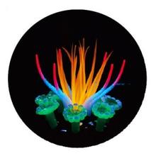ФОТО merle pet new simulation sea anemones fluorescent fashion trendy aquarium decoration accessories home ornament fish tank g07010