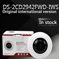 in stock English version DS-2CD2942F-IWS 4MP Compact Fisheye Network Camera Support Wi-Fi, support WPS configuration