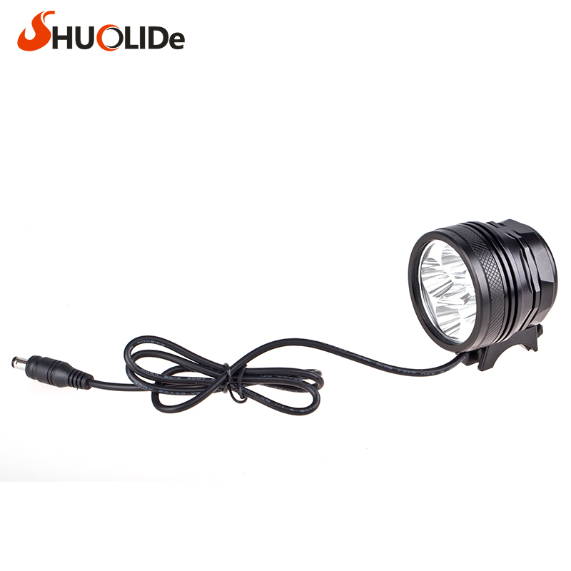 The new headlight glare CREE 6 XPL V5 Bicycle Light hoofdlamp headlight head lamp lampe frontale farol bike linterna frontal glare 30
