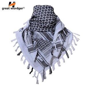 Image 3 - Pañuelo árabe táctico de algodón de 100% para hombre, pañuelo militar árabe para la cabeza, a prueba de viento, para caza, senderismo