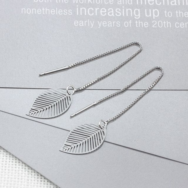 Long Chain Tassel Drop Earring