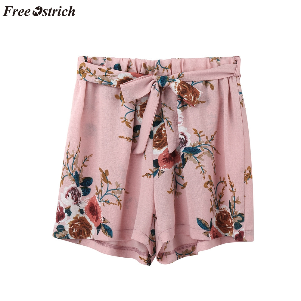 FREE OSTRICH   Shorts   Women's Print Casual Waistband Bandwidth Pine Summer Beach Fashion Comfortable Relaxation Vacation   Shorts