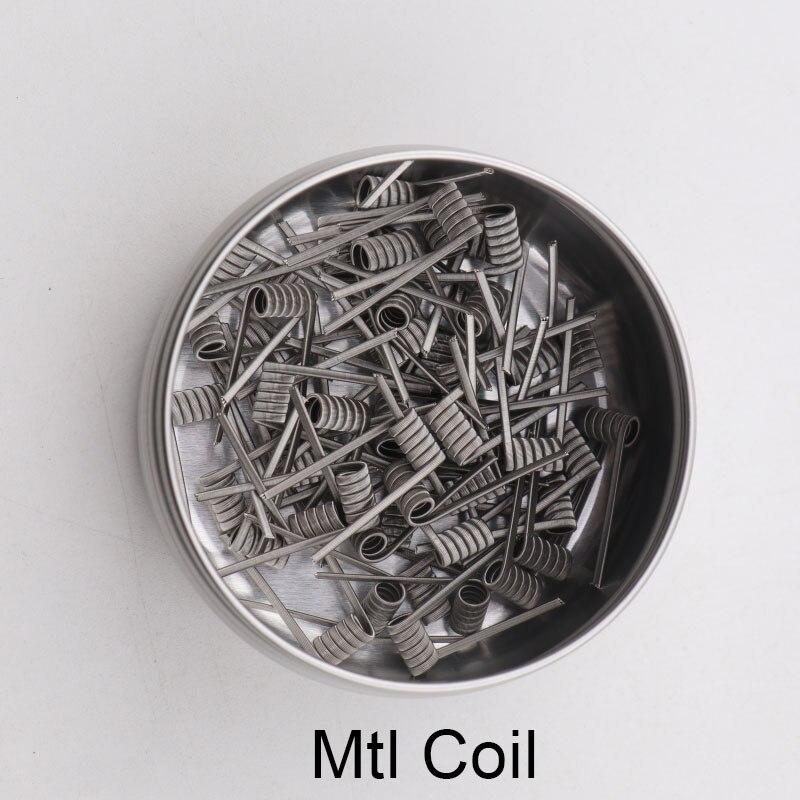 50/100 pièces XFKM nouveau super fin MTL bricolage pré-construit bobines Ni80/A1/SS316L pré-fait fusionné clapton pour manta mtl RTA atomiseurs