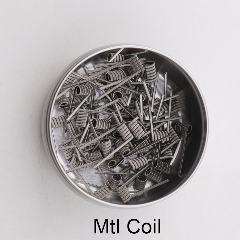 50/100pcs XFKM NEW Superfine MTL DIY Prebuilt Coils Ni80/A1/SS316L Premade Fused Clapton For Manta Mtl RTA Atomizers