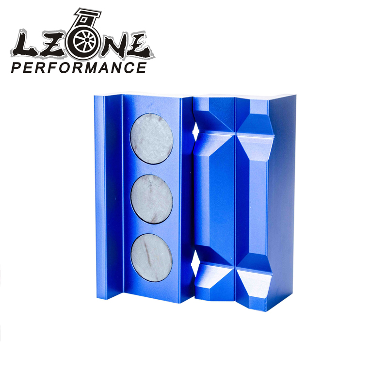 LZONE RACING - Aluminum Vise Jaw Protective Inserts for AN Fittings - With Magnetic Back JR-SLV0304-01