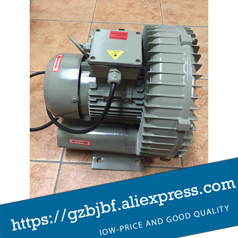 HG-260 0.26kw 220v 50hz Single stage high pressure ring blower vacuum air pump 2 2kw high pressure ring blower vacuum air pump for industry