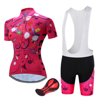 2017 Women Breathable Red Bicycle Clothes Summer Short Sleeve Cycling Bike Clothing Ropa Ciclismo For Female