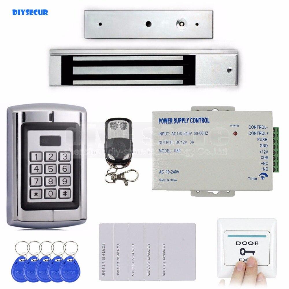 DIYSECUR RFID 125KHz Metal Keypad Door Access Control Security System Kit + Magnetic Lock  for Home/ Office Use BC2000 стоимость