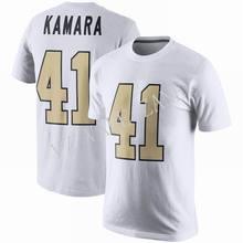 ebec1678c VZ VARE ZANE Homens Novo Vestuário Impressão 41 Alvin Kamara Equipe Cor de  Algodão de Manga Curta Casual T Camisa De Futebol T ..