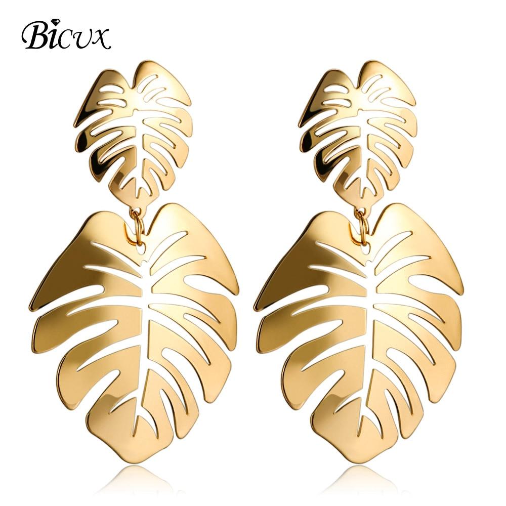Big Leaf Drop Earrings 5