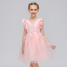 1343708278c95 Retail Floral Fashionable Lace Tassel Princess Evening Party Dress Cute  Appliques Western Style Children Flower Girls Dress L570