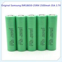 100% original for Samsung ICR18650-25RM 25RM 18650 2500mah 35A li-ion battery hot sale e cig vv mode (1 pc)