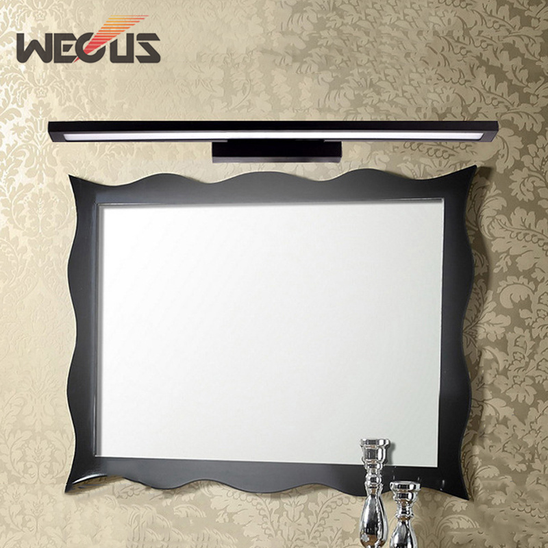 Vogue aluminum toilet light black bedroom led makeup mirror lamp 60CM drawing room study painting lights  85-265VVogue aluminum toilet light black bedroom led makeup mirror lamp 60CM drawing room study painting lights  85-265V