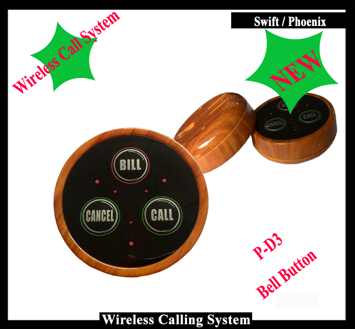 Emergency call button for elderly with 3 buttons(call bill cancel), Wireless Call Button for Pager System( One set=10 pcs) wireless service call bell system popular in restaurant ce passed 433 92mhz full equipment watch pager 1 watch 7 call button