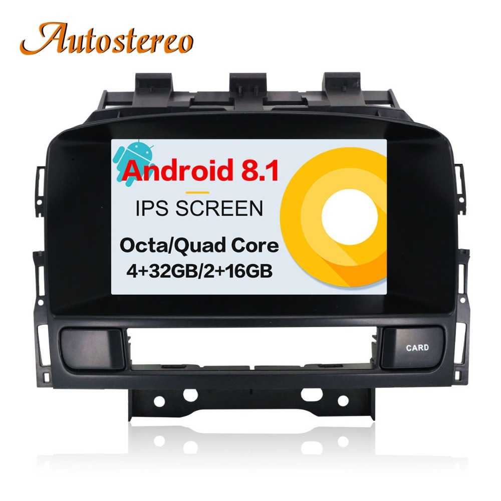 Android 8 Car DVD player GPS navigation radio Stereo for OPEL Vauxhall Holden Astra J 2010+ multimedia radio tape recorder IPS