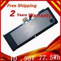 10.95 v batería del ordenador portátil para apple a1382 a1286 2009 77.5wh versión para macbook pro 15 mc721 mc723 mb985 mb986
