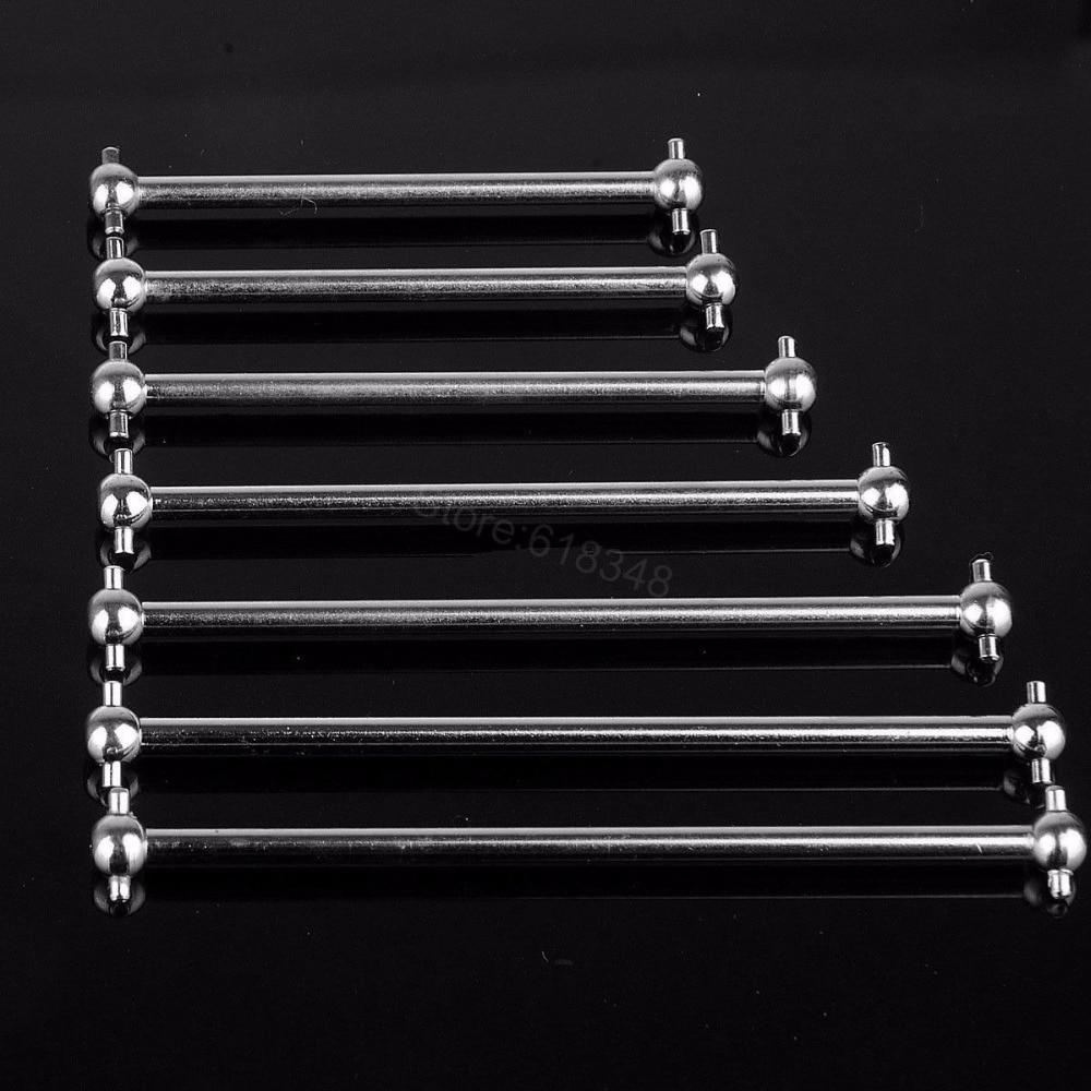 все цены на 2pcs Steel Metal RC Car Drive Shaft Dogbone 61mm 63mm 70mm 77mm 84mm 86mm 89.5mm 101mm онлайн