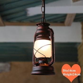 Американский Западный ковбойский классический железный подвесной светильник Европейский белый матовый стеклянный Ретро E27 светодиодная л...