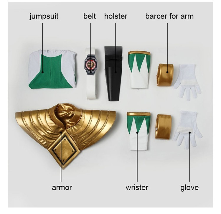 Costume For Burai Dragon Ranger Jumpsuit Onesies Cosplay Clothes Halloween  Costume Zyuranger Green Outfit Adult Men Customized 3e9f4d61c