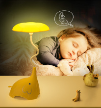 Modern creativity cute cartoon mini elephant night light for children room bedside baby feeding emergency lighting