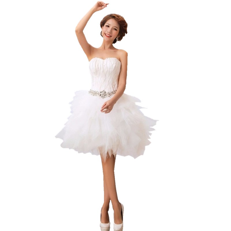 Popular White Feather Short Dress-Buy Cheap White Feather Short ...