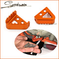 Orange Color with Ktm logo Motorcycle Brake Pedal Step For Ktm 125-530 690 950 990 SX EXC XCF ADVENTURE DUKE Free shipping