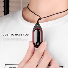For xiaomi mi band 3 / 2 strap Silicone case Necklace Decoration correa mi band 3 Pendant mi band 2 strap mi band 3 Accessories(China)