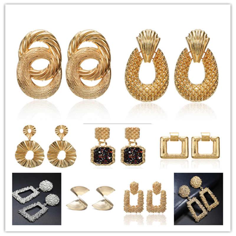 cab5b93dc9 Yunkingdom Hot Sale Simple Fashion Jewelry Rock Big Drop Earrings Dangle  Earrings for Women Charms For Jewelry