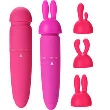 1Set Hot AV Wand G spot Massager Vibrating Faloimitator Mini Bullet Vibrator Dildo Powerful Stimulator Adult