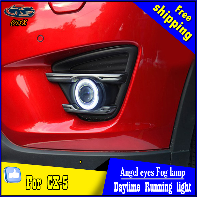 CDX car styling angel eyes fog light  for Mazda cx-5  2015 year LED fog lamp LED Angel eyes LED fog lamp Accessories купить