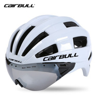 2017 Cairbull In Mold Adult Bicycle Helmet Racing Time Trial Helmet With Goggles Ultralight EPS PC