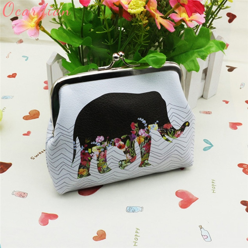 Ocardian Fabulous Womens Elephant Wallet Card Holder Coin Purse Clutch Handbag Jun15 womens wallet card holder coin purse clutch bag handbag lightweight portable and fashionable with famous brand