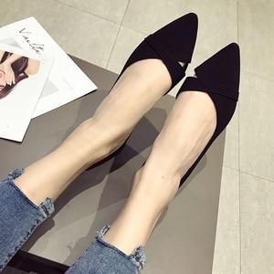 Image 5 - 2020 אביב קיץ אופנה אישה בלט דירות נעלי נשים רך להחליק על אחת נעלי גבירותיי נעלי הנעלה zapatos de mujer שחור