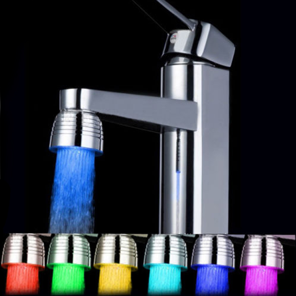 New LED  Bathroom Shower Water Faucet Colorful Light Changing Glow Stream Tap Spraying Head