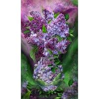 DIY Diamond Painting Cross Stitch Needlework Diamond Embroidery Mosaic Flowers Lavender Pattern Picture Of Rhinestones A7890R