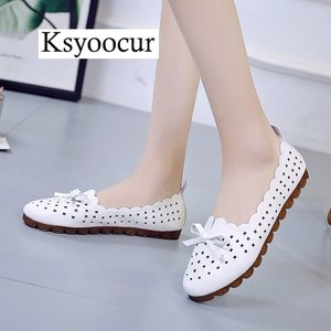 Image 1 - Brand Ksyoocur 2020 New Ladies Flat Shoes Casual Women Shoes Comfortable Round Toe Flat Shoes Spring/summer Women Shoes X05