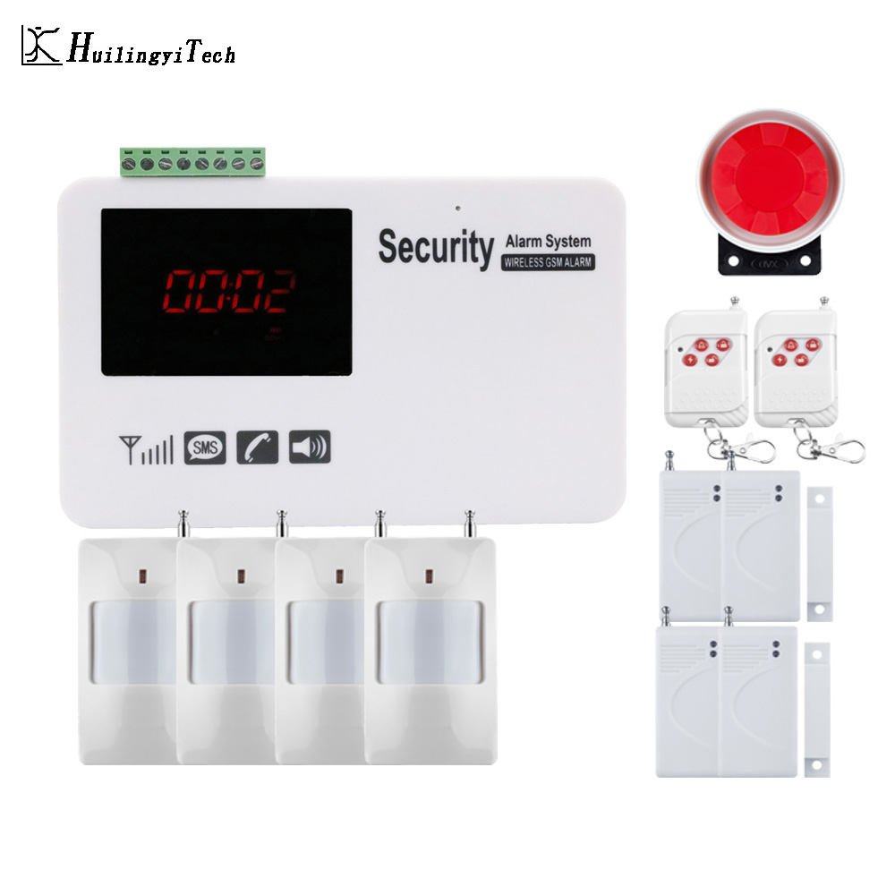 IOS Android APP Control Wireless Home Security GSM Alarm System SMS notice Alarm for power off