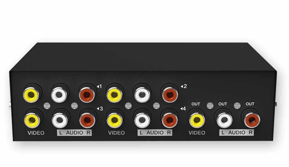 Smilemango Kualitas Tinggi Asli MT-VIKI RCA AV Switch Audio Video Selector 4 Input 1 Output MT-431AV Gratis Pengiriman