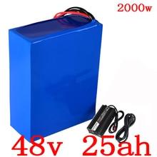 США ЕС нет налога 48 В батарея 48 В 25AH литиевая батарея 48 В 25AH 2000 Вт Электрический велосипед батарея Встроенный 50A BMS + 54,6 в 5 Acharger